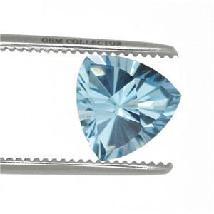 fancy concave cutting manufacturer, concave cut trillion shape blue, trillion cut blue topaz