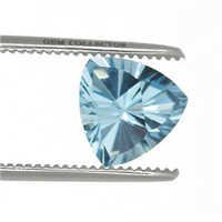 fancy concave cutting manufacturer, concave cut trillion shape blue, trillion cut blue topaz
