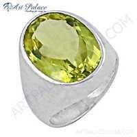 New Extra Shine Lemon Quartz Gemstone Silver Ring