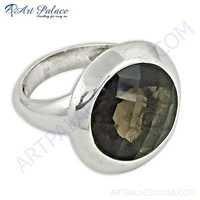 Hot Smokey Quartz Gemstone Sterling Silver Ring