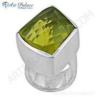 New Extra Shine Gemstone Silver Ring With Lemon Quartz