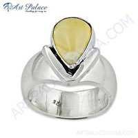Fabulous Citrine Gemstone Sterling Silver Ring
