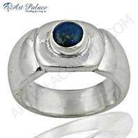 Delicate Lapis Lazuli Gemstone Silver Ring