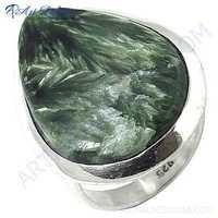 Hot World Large Jasper Gemstone Silver Ring