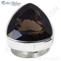 Sensational Smokey Quartz Gemstone Sterling Silver Ring