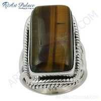 Vintage Tiger Eye Gemstone Sterling Silver Ring