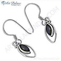 Trendy Labradorite Gemstone Silver Earrings