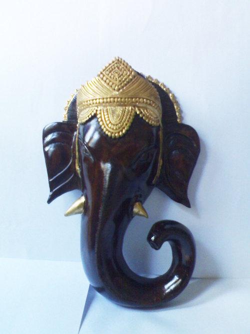 Wood Ganesha Statue