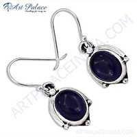 Nightlife Black Onyx Gemstone Designer Silver Earrings
