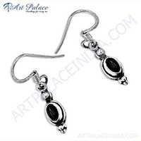 Delicate Garnet Gemstone Silver Earrings