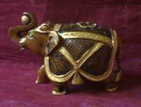 Elephant wooden statue