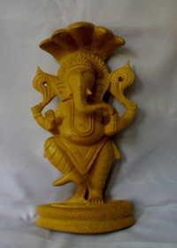Hand Carved Ganesha Statue