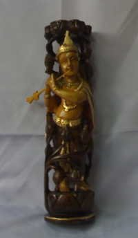 Hand Carved Lord Krishna Statue