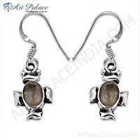 Designer Rose Quartz Gemstone Silver Pendant