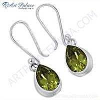 New Extra Shine Lemon Quartz Gemstone Silver Earrings