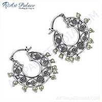 Indain Designer Pearl Silver Earrings