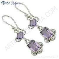 Rady to Wear Amethyst Gemstone Silver Earrings