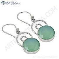 Fabulous Chalce Gemstone Sterling Silver Earrings