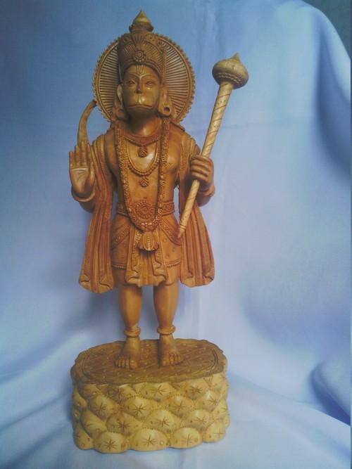 Shree Hanuman Statue in Wodden