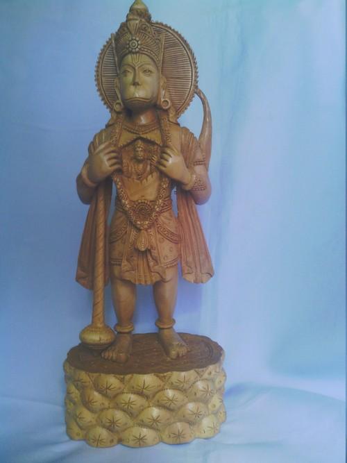 Wooden Hanuman Statue