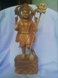 Shiva wooden statue