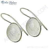 Trendy Crystal Gemstone Silver Earrings
