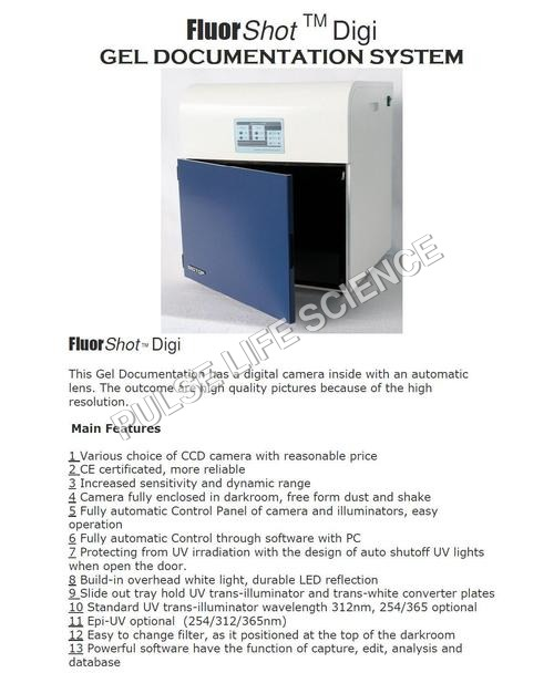 GEL DOCUMENTATION SYSTEM FLUORSHOT DIGI