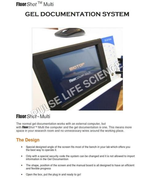 GEL DOCUMENTATION SYSTEM - FLUORSHOT MULTI