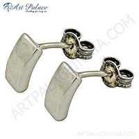 Decent Plain Silver Earrings