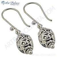 Plain Silver Designer Earrings