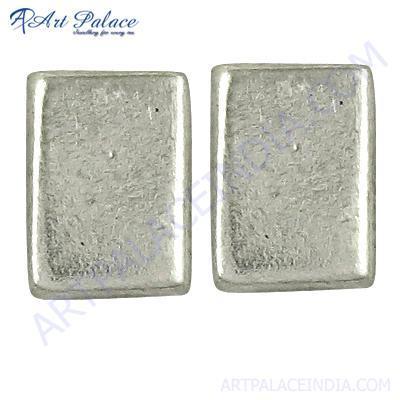 New Arrival Plain Silver Earrings