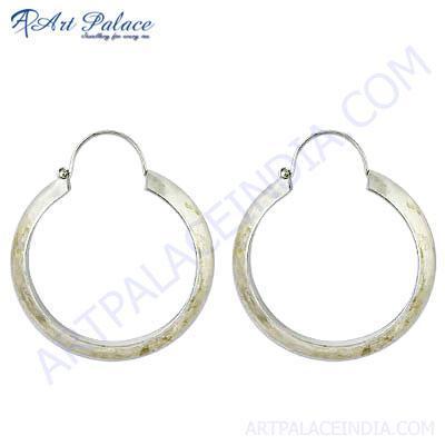 Plain Silver Hoop Earrings