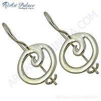 Pretty Plain Silver Earrings