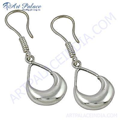 Wholesale Handmade Plain Silver Earrings