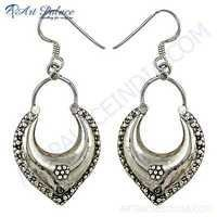Plain Silver Ethnic Deisgner Earrings