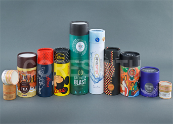 Colored Paper Cans