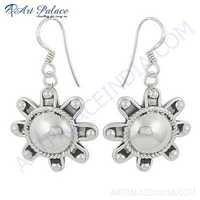 Famous Design Plain Silver Earrings