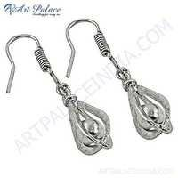 Fashionable Plain Silver Designer Earrings