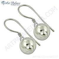 Attractive Plain Silver Earrings
