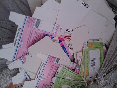 Colour Pulp Paper Waste