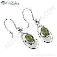 Rady to Wear Prenite Gemstone Silver Earrings
