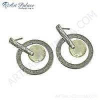 Fantastic Fashionable Crystal Gemstone Silver Earrings