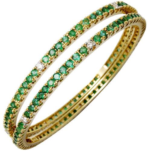 Elegant Emerald Ethnic Bangle Set Expoter