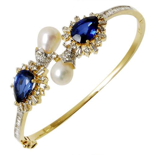 Exclusive bracelet kyanite gemstone Half Bangle