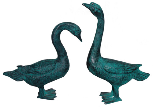 Pair Of Geese Statue