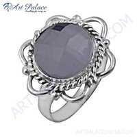 Unique Crystal Gemstone German Silver Designer Rings
