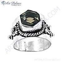 Wholesale Various Designer Smokey Quartz Gemstone German Silver Rings