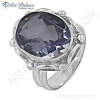 Sensational Crystal Gemstone German Silver Ring