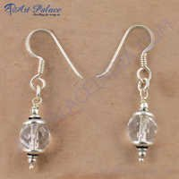 Charming Crystal Gemstone Silver Earrings, 925 Sterling Silver Jewelry