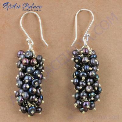 Various Styles Blue Pearl Gemstone Silver Earrings, 925 Sterling Silver Jewelry
